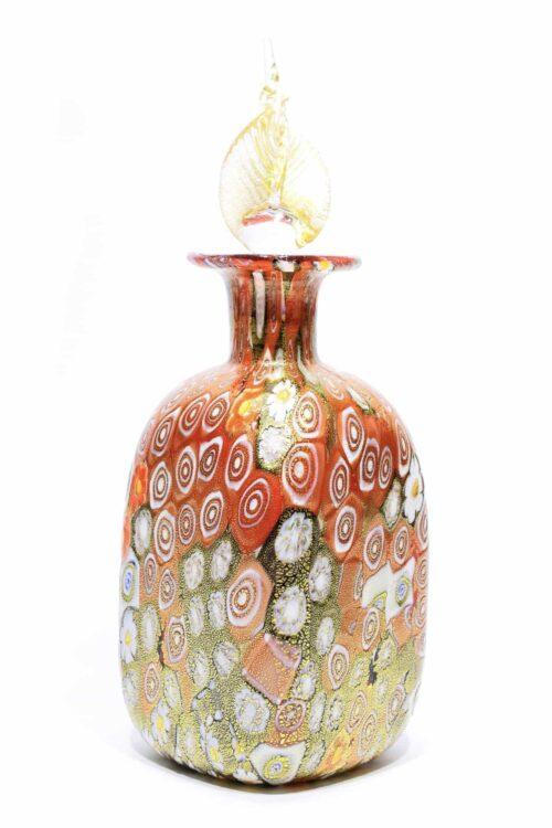 bottiglia murrine in vetro di murano