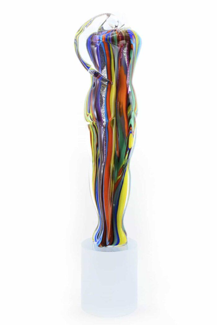 scultura busto sommersa in vetro di MUrano
