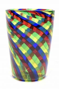 bicchiere in filigrana in vetro di murano
