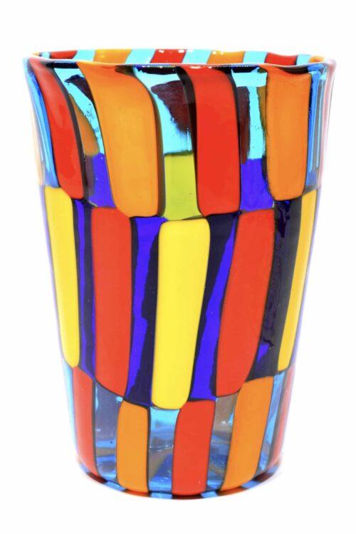 Bicchiere Pezzato in vetro si murano
