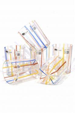 bicchieri a canne in vetro di murano