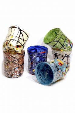 bicchieri murrine in vetro di murano