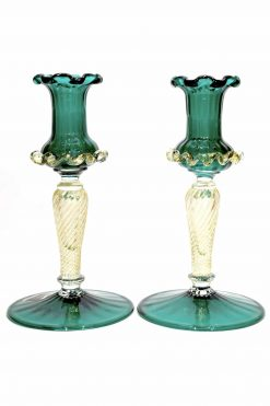 candelabri vintage in vetro di murano