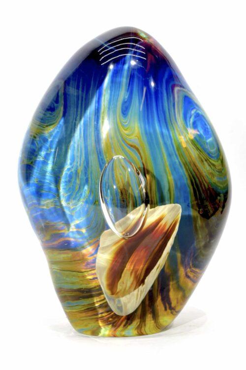 acquario con calcedonio in vetro di murano