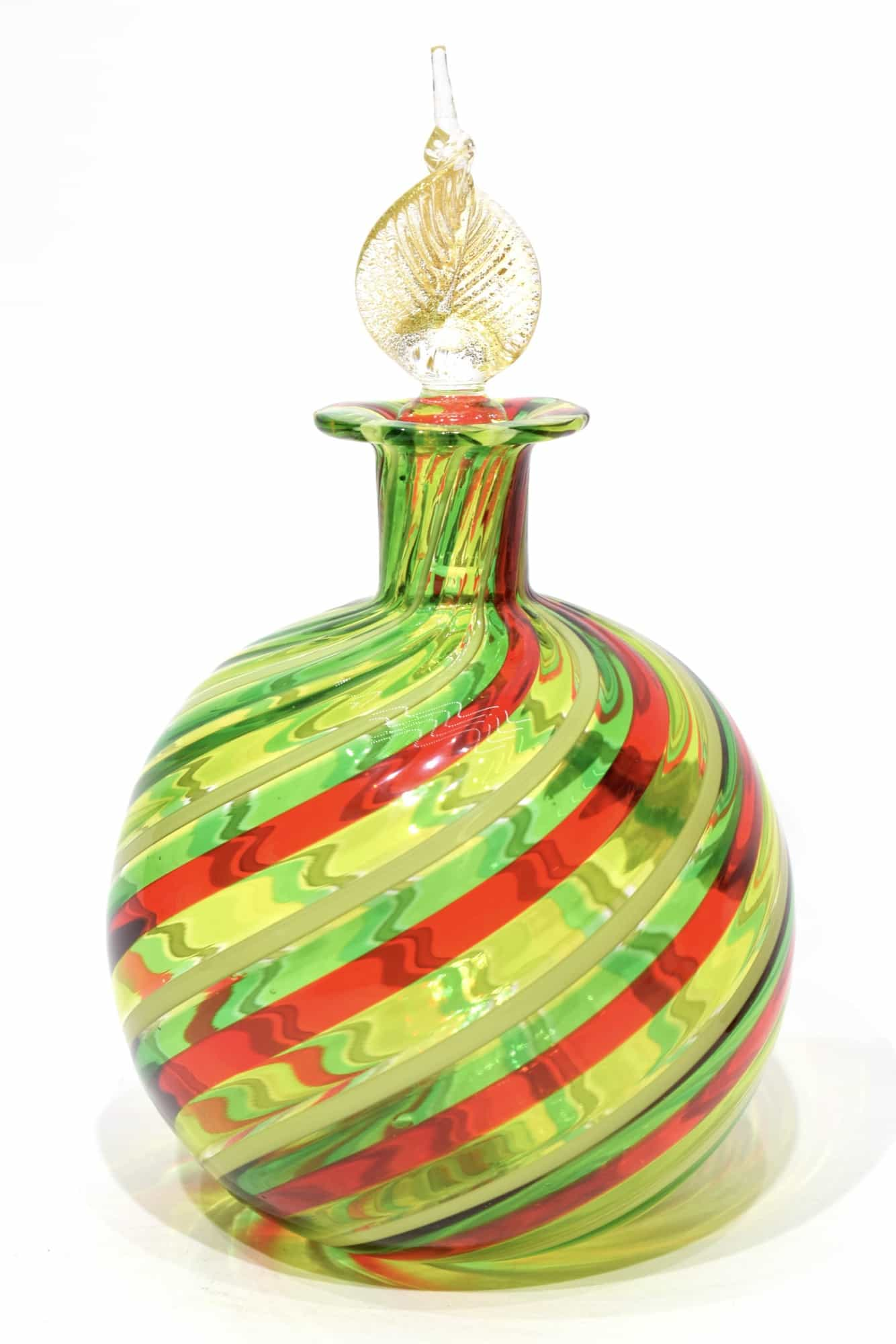 Murano glass filigree bottle