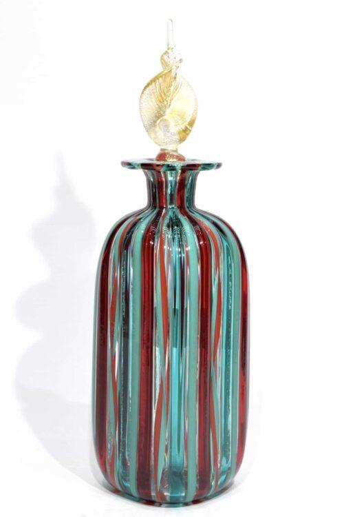bottiglia in reticello in vetro di murano