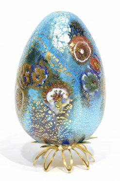 uovo con murrine in vetro di murano