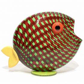 pesce con filigrana in vetro di murano