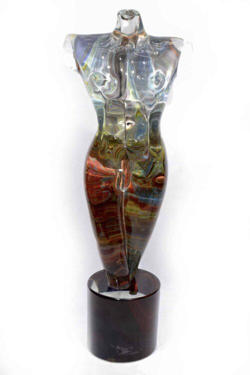 scultura busto calcedonio in vetro di MUrano
