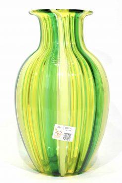 vaso con canne in vetro di muran