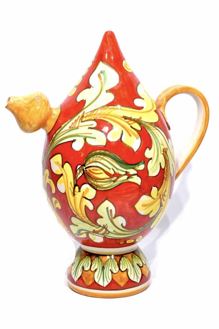 caraffa bummalo malandrino in ceramica dipinta a mano