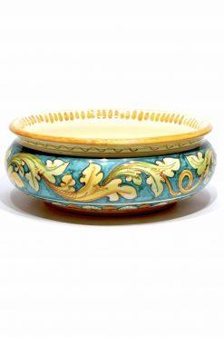 centrotavola in ceramica dipinto amano