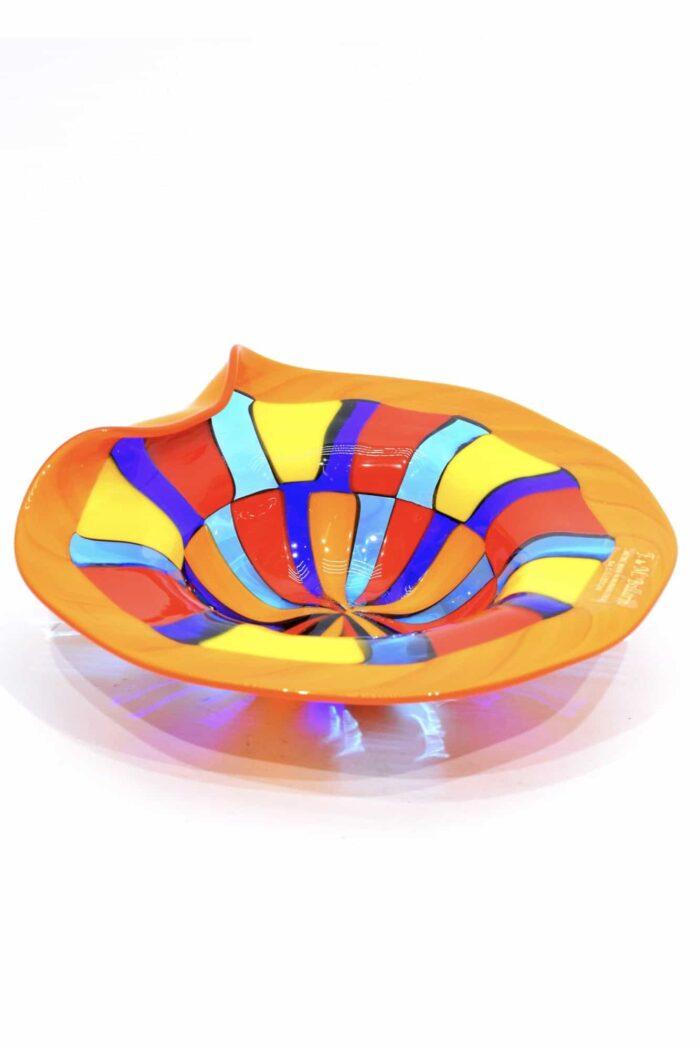 Piatto pezzato in vetro di murano