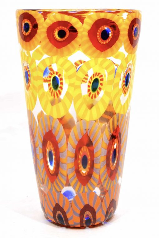 vaso murrine in vetro di murano