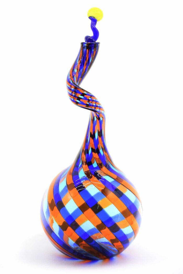 bottiglia filigrana in vetro di murano