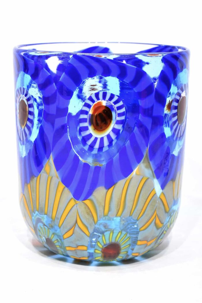 bicchiere murrine in vetro di murano