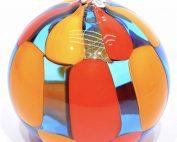 palla di natale pezzata in vetro di murano