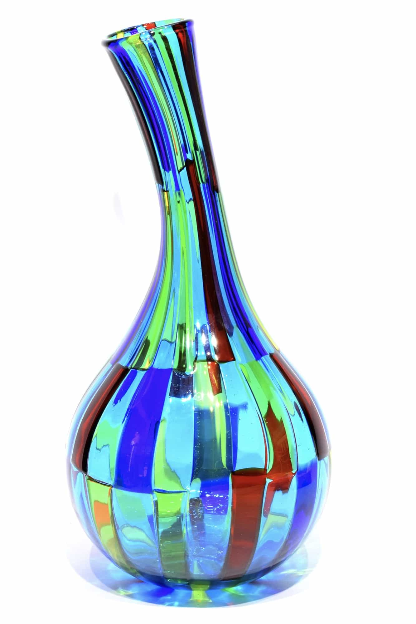 vaso pezzato in vetro di murano