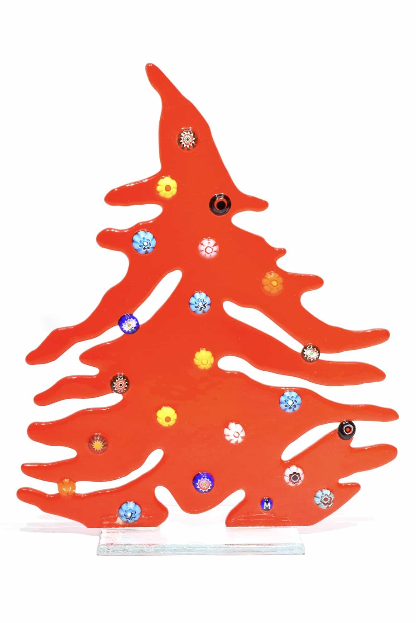 Albero di Natale in vetro di Murano