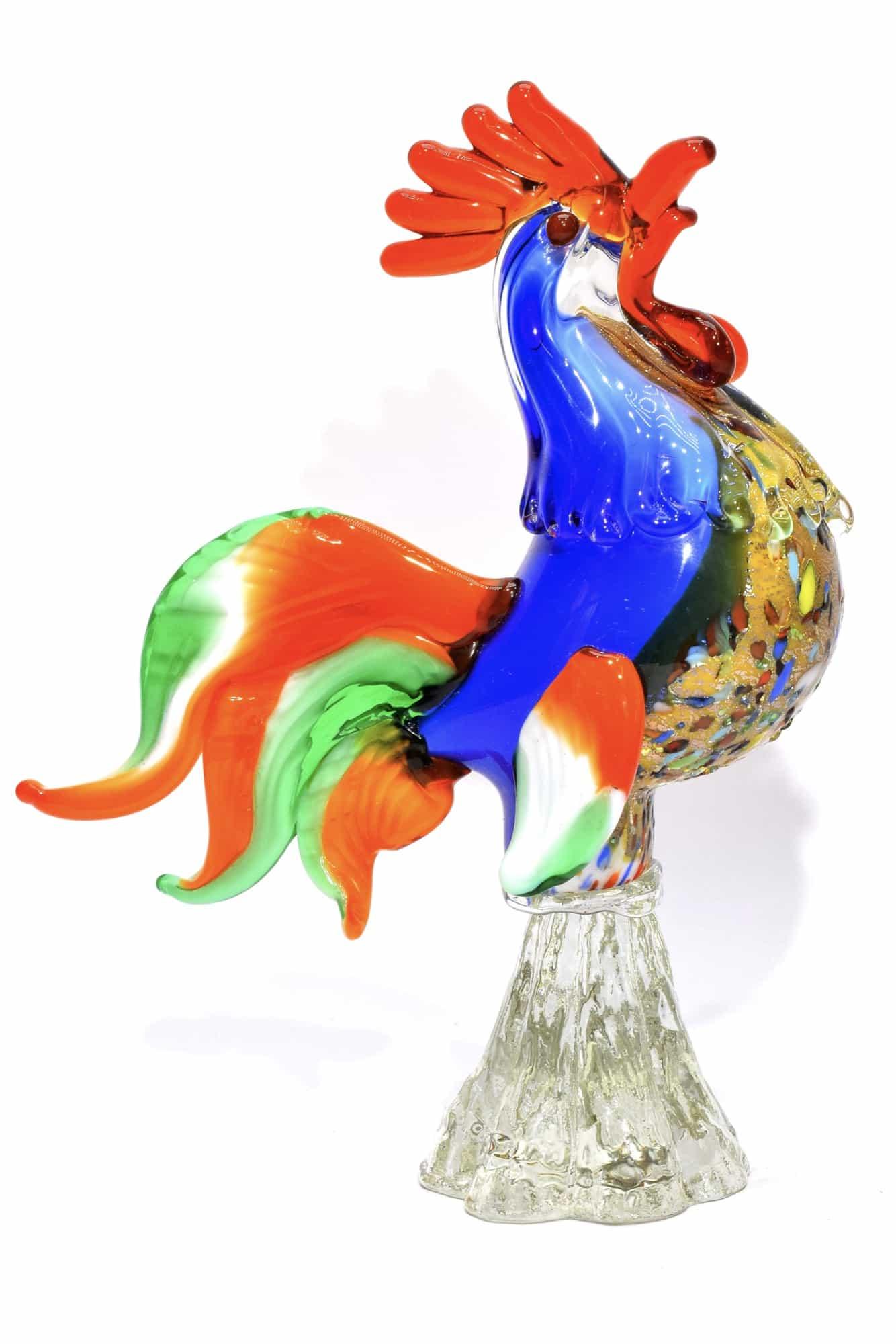 Gallo in vetro di Murano