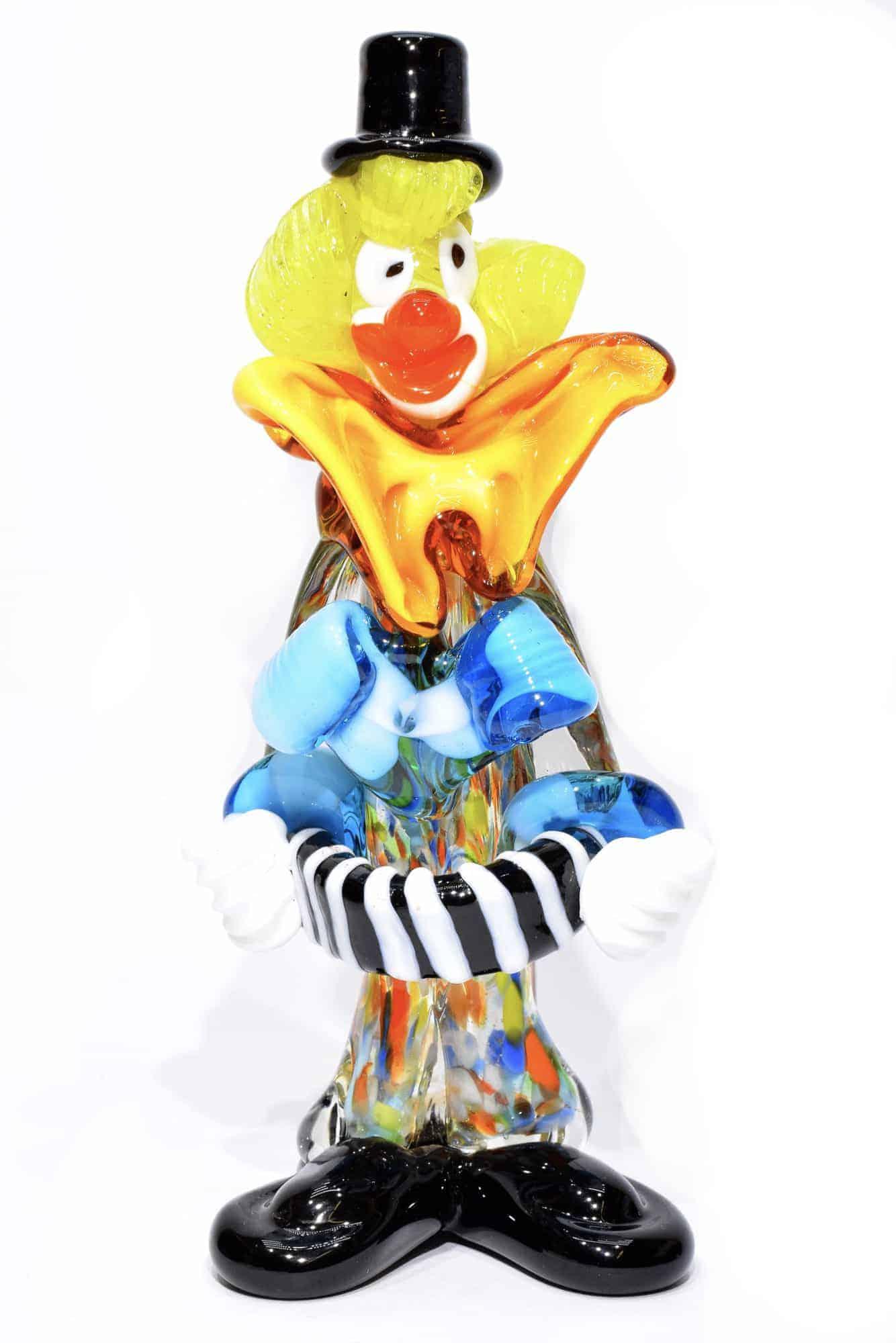 Clown en verre de Murano