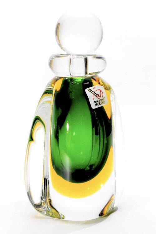 bottiglia sommersa in vetro di murano
