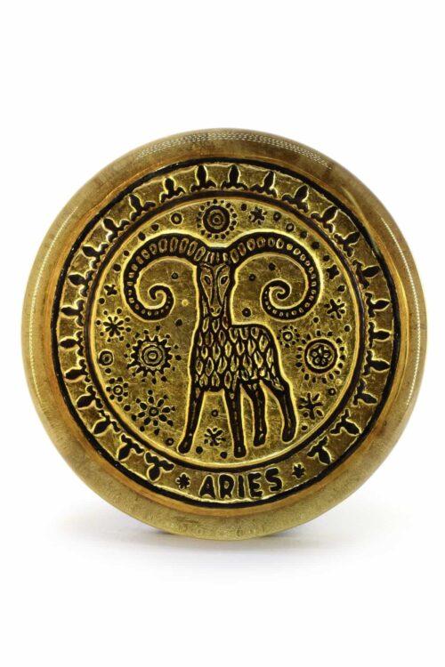 fermacarte zodiacale in vetro di murano