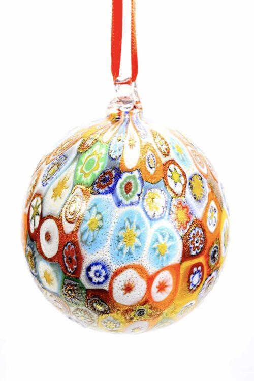 palla di Natale in vetro di murano