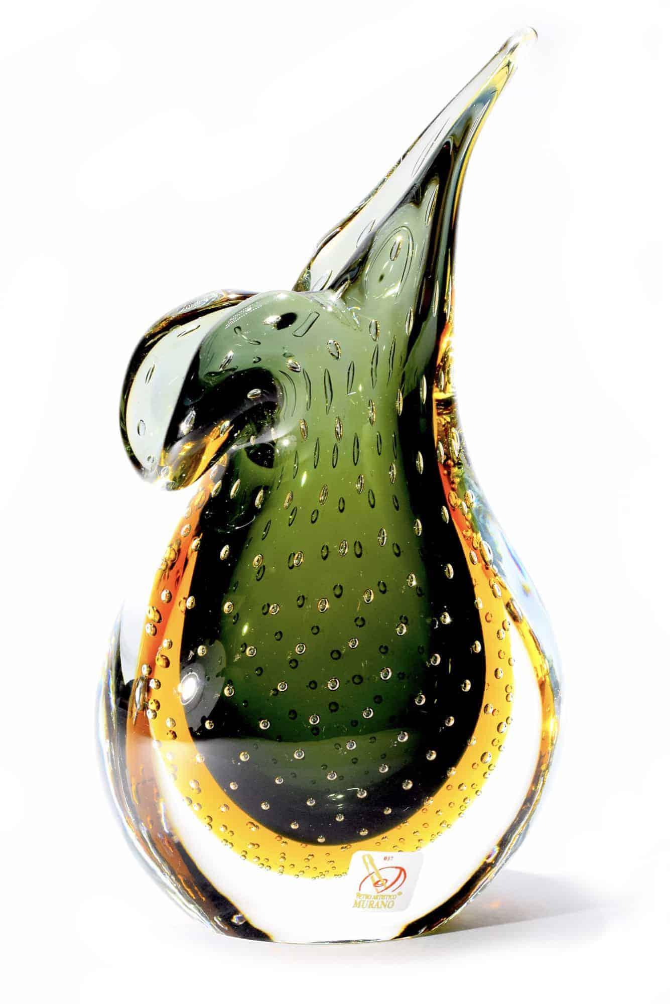 Vaso sommerso in vetro di murano