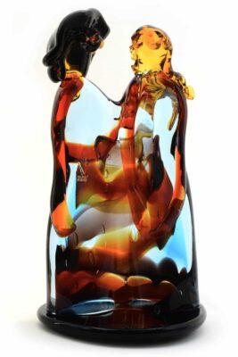 scultura amanti in vetro di murano