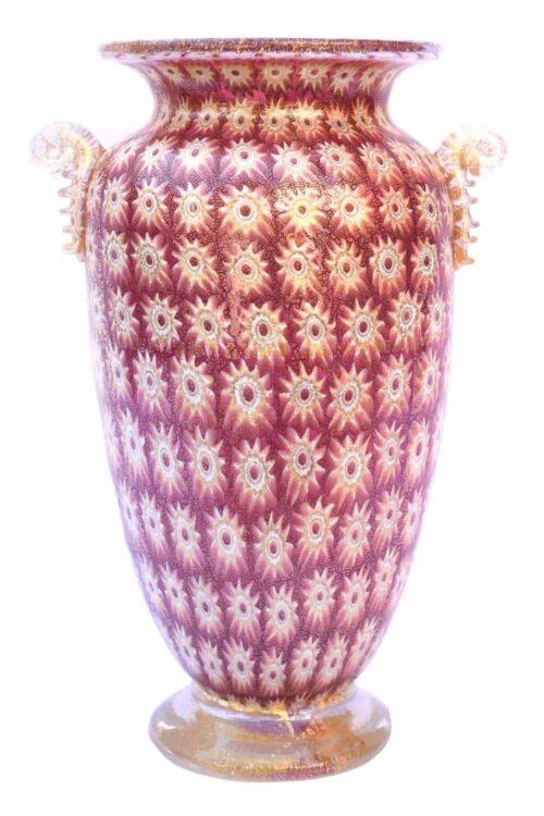 vaso murrina oro in vetro di murano