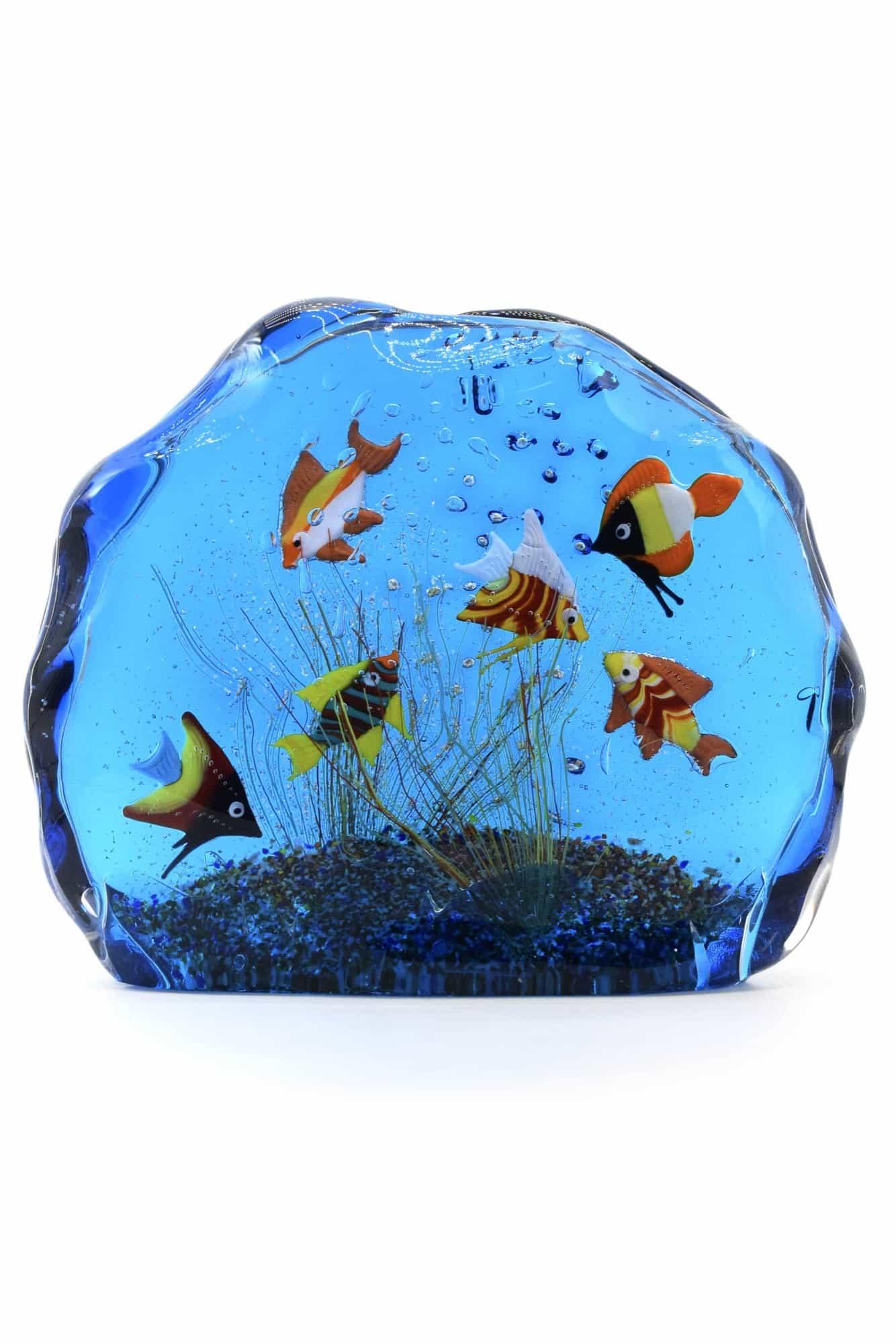 acquario in vetro di murano