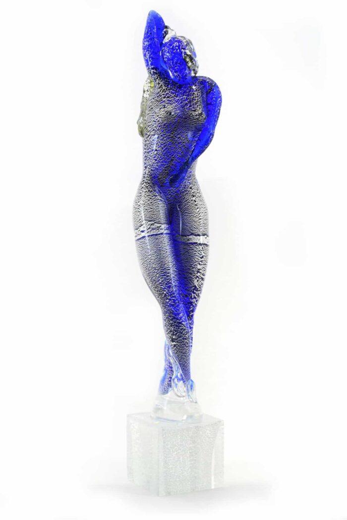 scultura danzatrice in vetro di murano