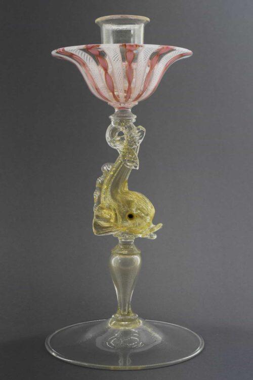candelabro vintage in vetro di murano