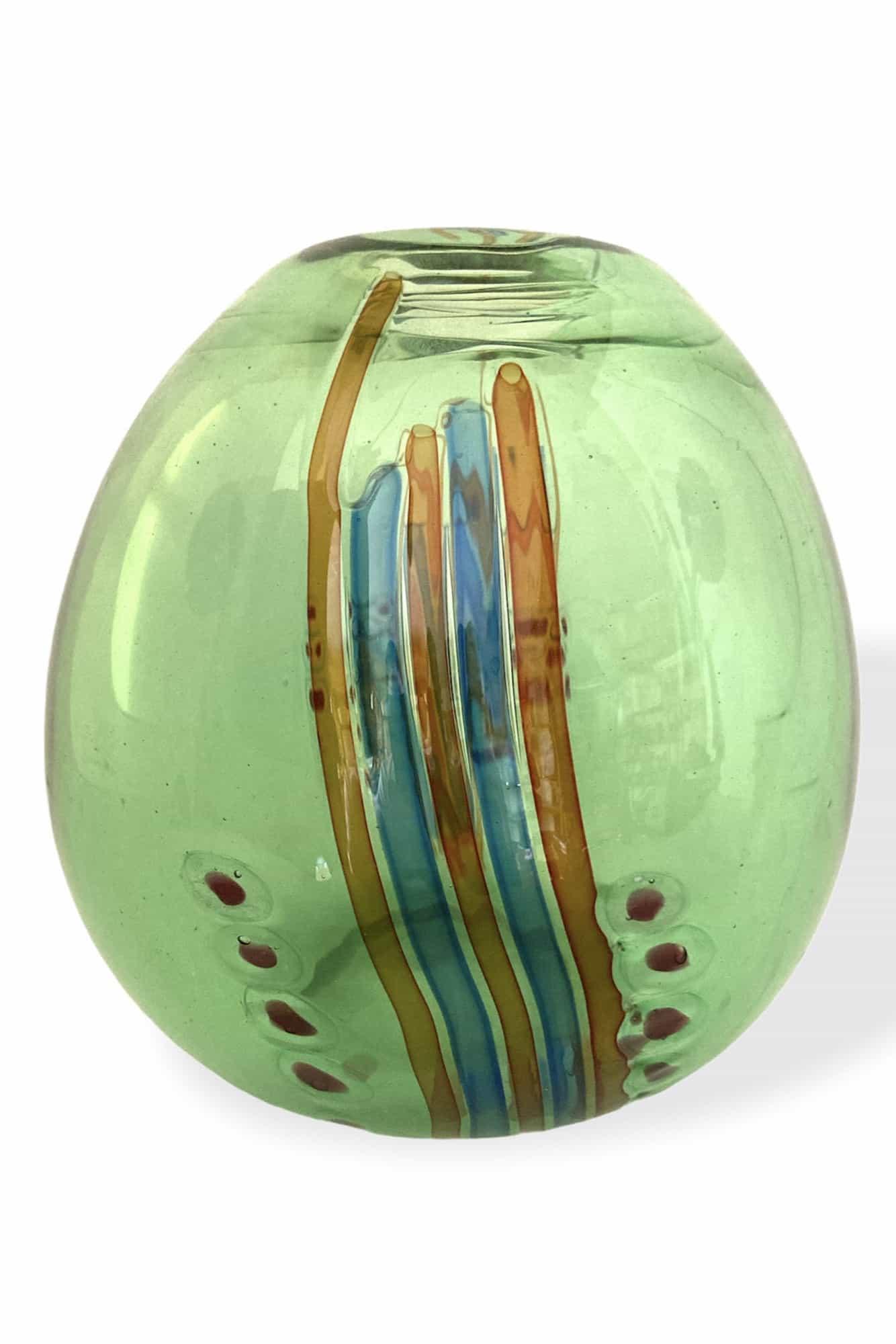 angolo fuga vaso murrine incatenate in vetro di murano