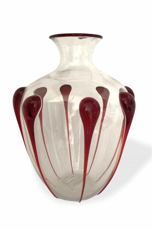 Vittorio zecchin vaso goccioloni in vetro di murano